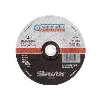 Disc abraziv Sonnenflex Silverstar 00116_4, pentru polizat otel, D 230 x 6 x 22.23