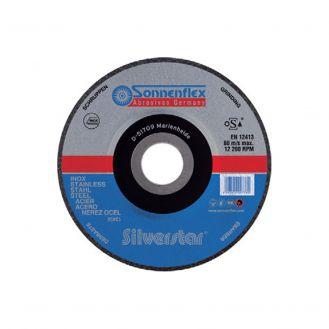 Disc abraziv Sonnenflex Silverstar 00777_7, pentru polizat otel inox, D 180 x 8.0 x 22.23