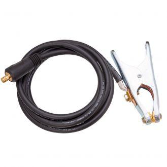 Cablu de sudura Deca 010314, lungime 3 m, sectiune 35 mm2, conector profesional de sudura DX50, cleste de masa 350 A