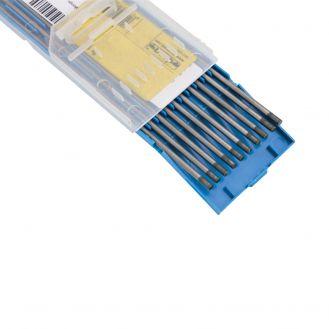Electrozi nefuzibili torta TIG Deca 010696, ceriati 2%, diametru 2.4 mm lungime 175 mm, 10 buc., curent continuu, pentru otel si inox
