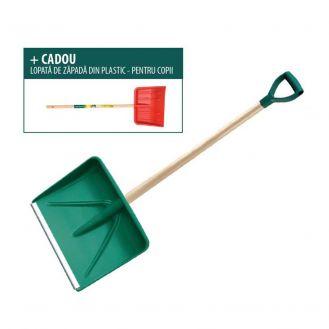 Lopata zapada Leborgne 034042, din polimer, coada din lemn + lopata de zapada pentru copii