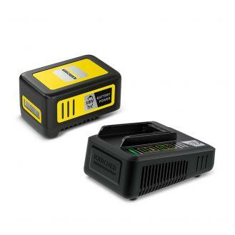 Starter kit Karcher Battery Power 18/50, 2.445-063.0, Li-Ion 18 V, 5.0 Ah, incarcator rapid