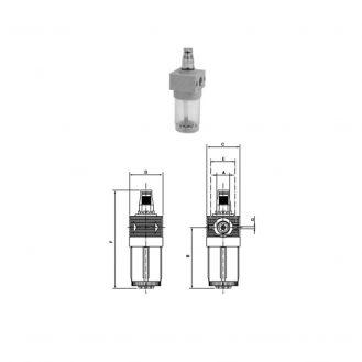 Lubrificator cu ceata de ulei Comaria 3103, cu reglaj micrometric