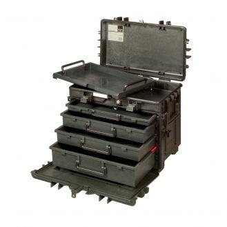 Cutie rigida pentru scule Bahco 4750RCWD4, 150l, maner telescopic, 4 sertare, roti