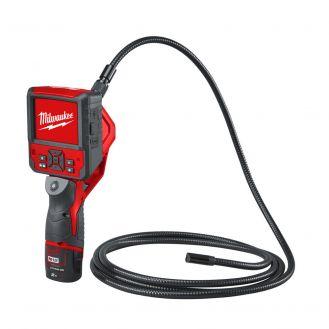 Camera de inspectie vizuala Milwaukee M12 IC AV3, Cablu 2,7 m, card SD 8 GB, Li-Ion.