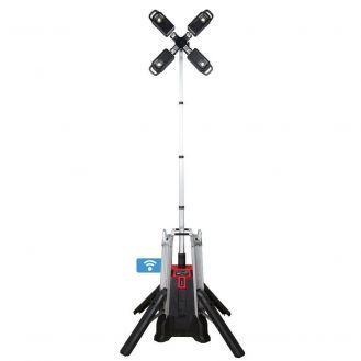 Turn mobil de luminat Milwaukee MXF TL,  cu 1 acumulator 72 V / 6.0 Ah, 3.1 m, 27000 lm