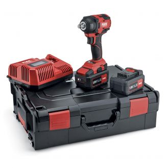 "Masina de insurubat cu impact Flex IW 1/2"" 18.0-EC/5.0 Set, 504912, 2 acumulatori 18 V / 5Ah, 250 Nm, incarcator si valiza de transport"