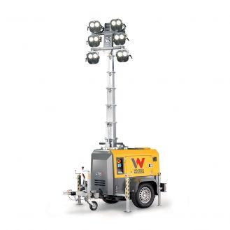 Turn de iluminat cu generator Wacker Neuson LTE4K 50Hz LED Trailer Amoss, inaltime catarg 8.5 m, suprafata iluminare 3800 m² , motor Kubota