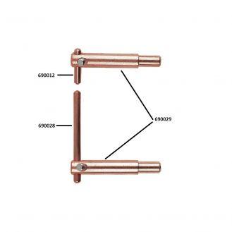 Electrod drept pentru sudura in Puncte Telwin 690028 lungime 125 mm