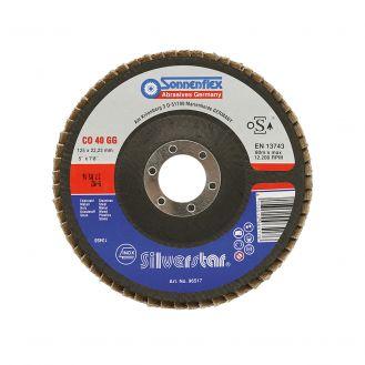 Disc lamelar Sonnenflex 96518_3, granulatie CO 60 GG, ceramic, 125x13X22.23 mm