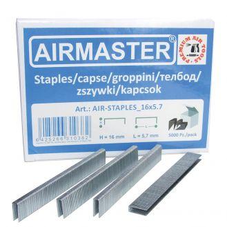 Capse AIR-STAPLES_16x5.7 Airmaster, 16x5.7 mm, 5000buc