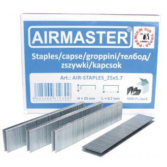 Capse AIR-STAPLES_25x5.7 Airmaster, 25x5.7 mm, 5000buc