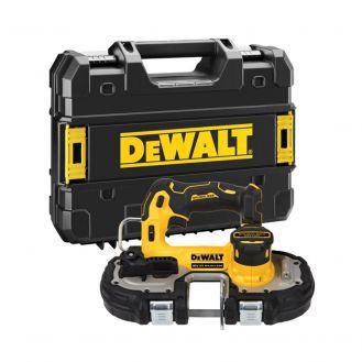 Fierastrau cu banda Dewalt DCS377NT, compatibil cu acumulatori XR Li-Ion 18V, capacitate de taiere 46 mm, cutie TSTAK