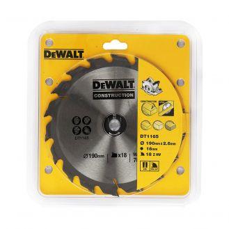 Disc pentru fierastrau circuar DeWalt DT1165, 190x16 mm, lemn moale, reconditionat, cu cuie