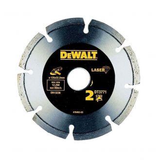 Disc diamantat pentru taiere uscata DeWalt DT3771, 125 mm, 22.2 mm