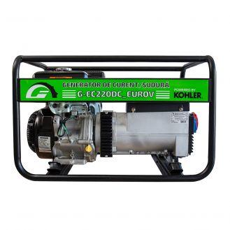 Generator portabil de curent si sudura Greenfield G-EC220DC_EUROV, trifazat, 6.1 kVA, curent sudura 40-220 A