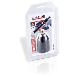 Mandrina rapida cu blocare Kreator KRT014005, cu adaptor pentru prindere SDS Plus, deschidere bacuri 1.5 - 13 mm