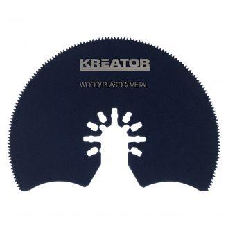 Disc segmentat HSS Kreator KRT990021, 87 mm pentru unelte multifunctionale