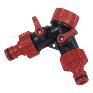 """Adaptor robinet Kreator KRTGR6024, 3/4"""", cu 2 iesiri"""