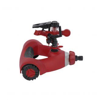 Aspersor pulsator Kreator KRTGR6503, din plastic, cu roti, raza max. 11m
