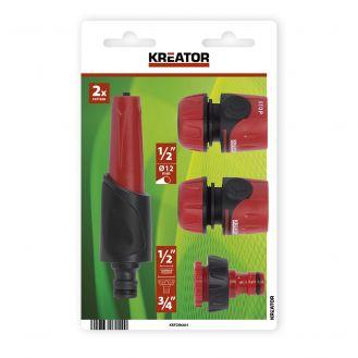 Set 4 accesorii pentru irigat Kreator KRTGR6601