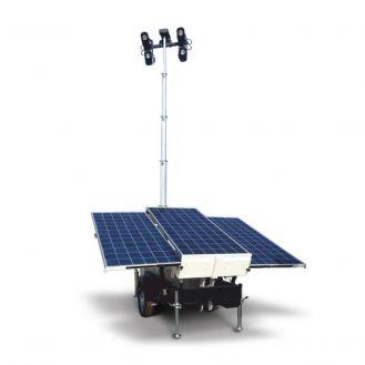 Turn de iluminat cu panouri solare Generac LT SOLAR 4X65W Led TL, inaltime catarg 6.5 m, 29000 lm