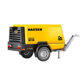 Motocompresor portabil Kaeser M59_10BAR_FF, diesel, 7 bar - 5.5 mc/min, 10 bar - 4.7 mc/min