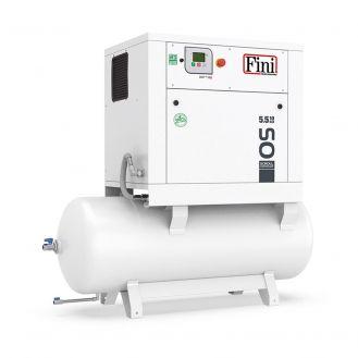 Compresor aer Fini OS 7.5-08-500, 500 l, 7.5 kW, 8 bar, 830 l/min aer refulat