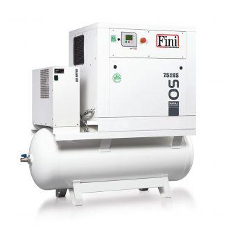 Compresor aer Fini OS 7.5-10-500 ES, butelie aer 500 l, 7.5 kW, 10 bar, 650 l/min aer refulat, uscator incorporat