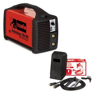 Invertor sudura MMA Telwin TECHNOLOGY186HD_ACC, 160 A, electrozi 1.6 - 4 mm, set accesorii
