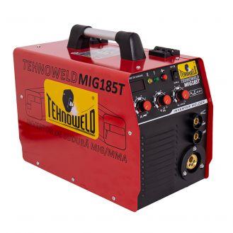 Aparat sudura MIG-MAG/ MMA Tehnoweld TEHNOWELDMIG-185T, 170 A, sarma otel 1  mm, electrozi 1.6-4  mm, cu accesorii