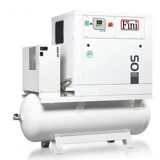 Compresor aer Fini OS 3.7-08-270 ES, butelie aer 270 l, 3.7 kW, 8 bar, 420 l/min aer refulat, uscator incorporat