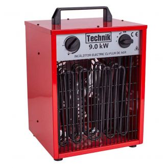 Aeroterma electrica industriala Technik WD-F9, 9000 W, 800 mc/h