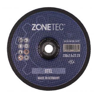 Disc abraziv Zonetec ZA231M2302.522 pentru debitat otel, centru depresat D 230X2.5X22.23 mm