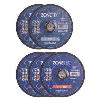 Set 5 discuri pentru debitat Zonetec ZA231SET230-D5-1, pentru debitat inox/metal 230X1.9/2.5X22.3 mm