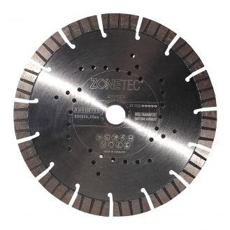 Disc diamantat Zonetec ZA241STB230171522 pentru beton armat, taiere segmentata, D 230x22.3x17 mm