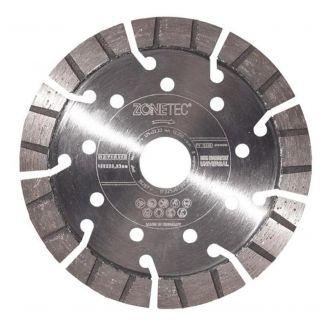 Disc diamantat Zonetec ZA241STU12513922, pentru beton armat, taiere segmentata, D 125x22.3x13 mm