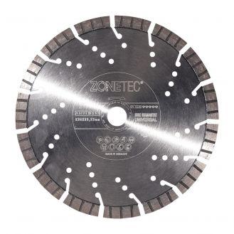 Disc diamantat Zonetec ZA241STU230131522 pentru beton armat, taiere segmentata, D 230x22.3 x13 mm