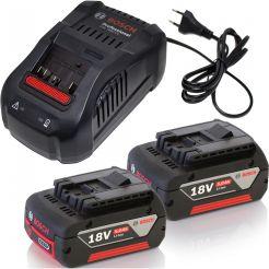 Set 2 acumulatori Li-Ion + incarcator Bosch GBA 18 V 5.0 Ah + GAL 1880 CV Professional