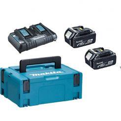 Kit 2 acumulatori si incarcator Li-Ion Makita LXT, 18 V, 4.0 Ah, valiza de transport MAKPAC