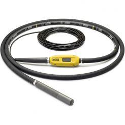 Vibrator de beton compatibil cu convertizor Wacker Neuson IE 45/42/10, cap vibrant 45 mm cu ranforsare metalica, lungime furtun 10 m, frecventa 200 Hz